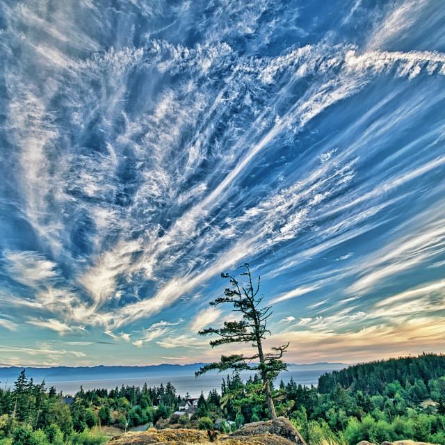 """Cloudscape - Sooke, Vancouver Island, BC"" stock image"