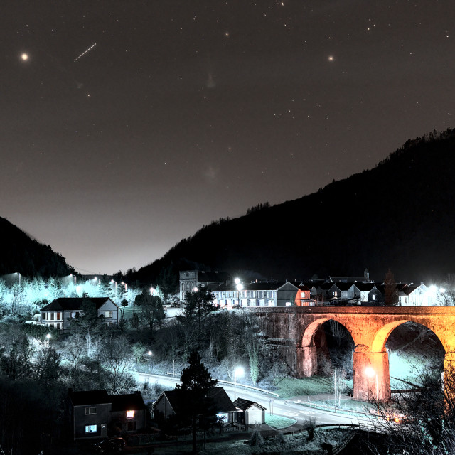 """""""Oakwood South Wales Meteor (Infrared)"""" stock image"""