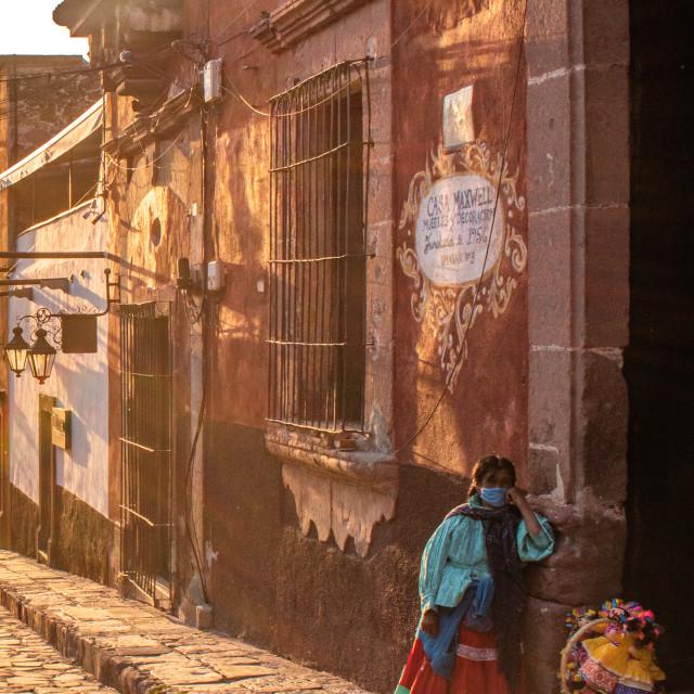 """""""Local woman in San Miguel de Allende, Mexico"""" stock image"""