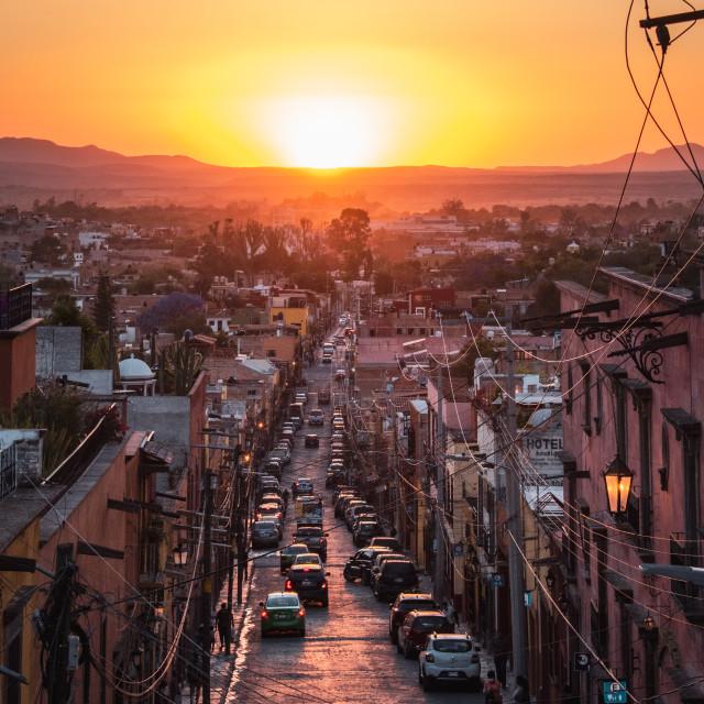 """San Miguel de Allende at Golden Hour"" stock image"