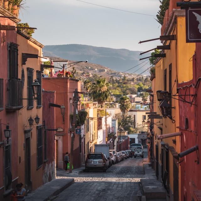 """""""The Alleyways of San Miguel de Allende, Mexico"""" stock image"""