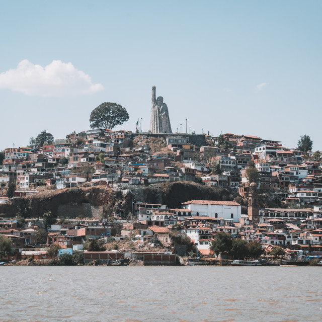 """The Island of Janitzio in Michoacan, Mexico"" stock image"