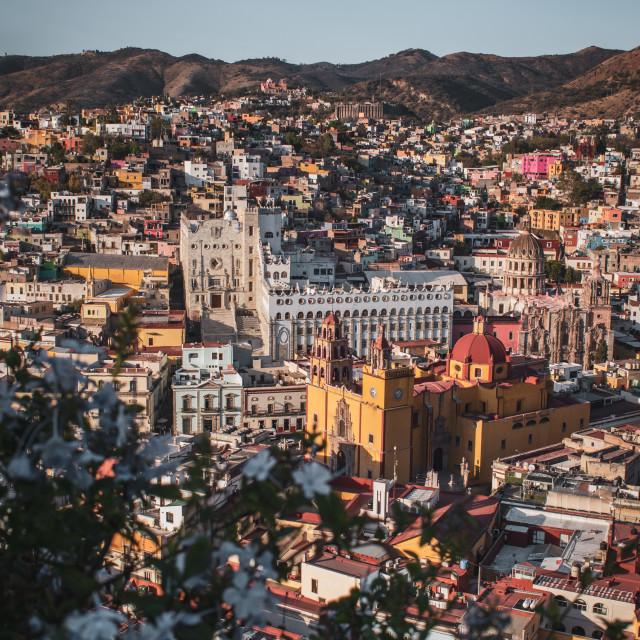 """Sunset Views of Guanajuato City, Mexico"" stock image"
