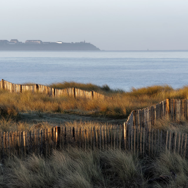 """Cotentin sunrise"" stock image"