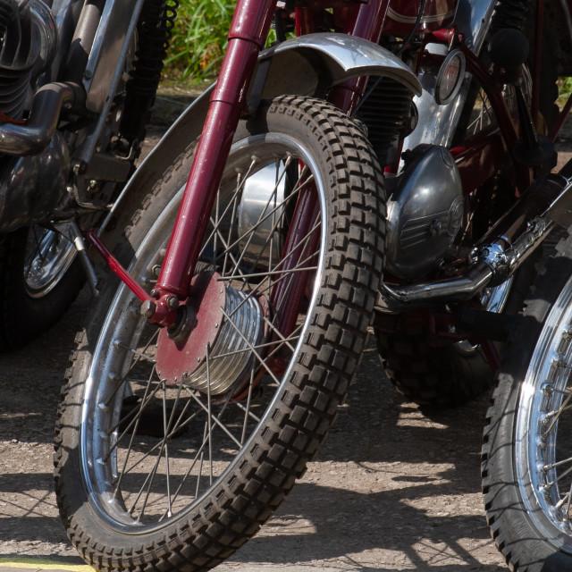 """Trials Bike Wheels, Assorted,"" stock image"