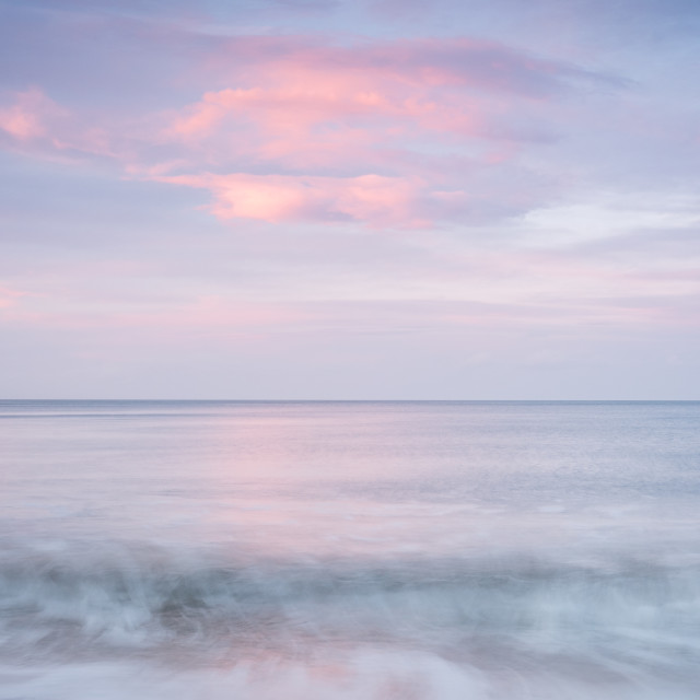 """""""The North Sea at its metallic best"""" stock image"""