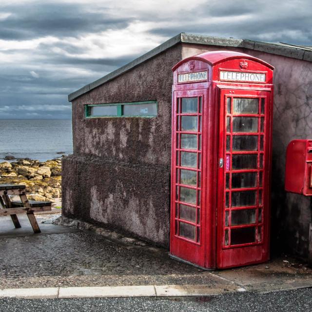 """Pennan Telephone Box"" stock image"