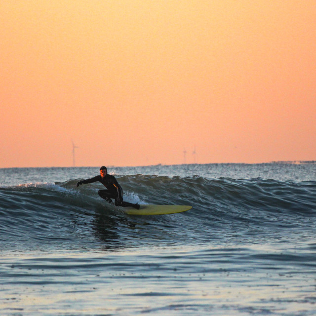 """""""Surfing New Hampshire"""" stock image"""