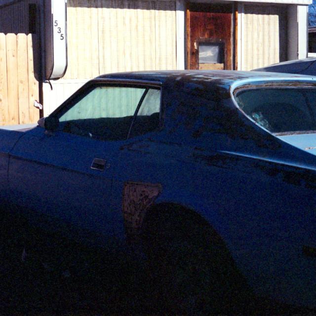 """Muscle Car, Wrong Exposure w/ Light Leak"" stock image"