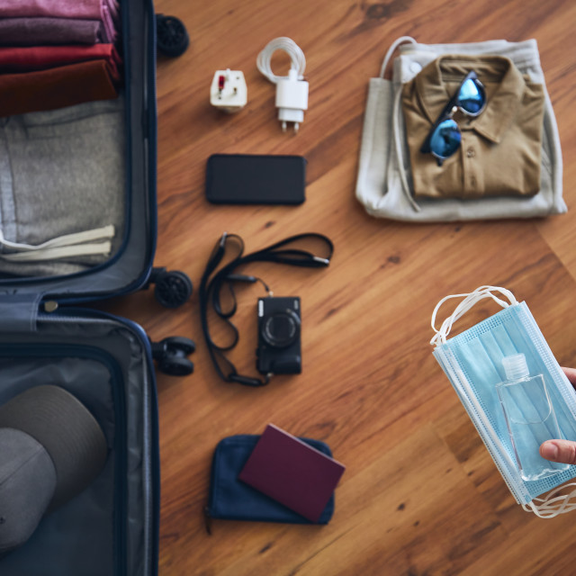 """""""Preparing for travel in new normal"""" stock image"""