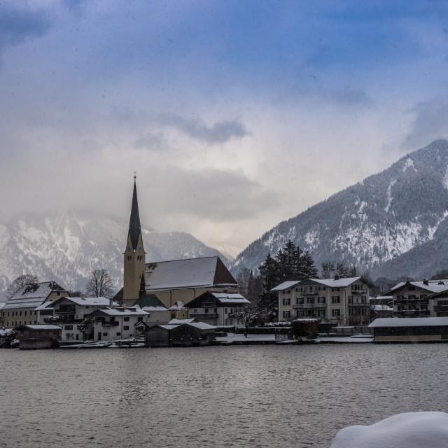 """Bavarian Alps in winter"" stock image"