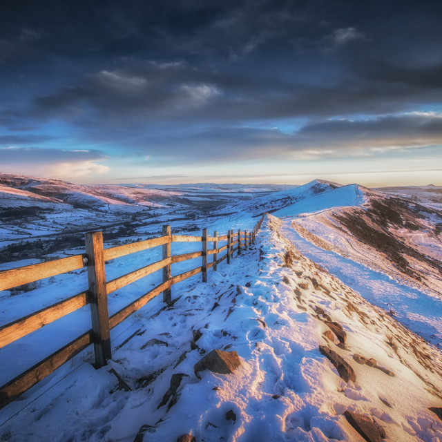 """Winter Sunrise Great Ridge"" stock image"