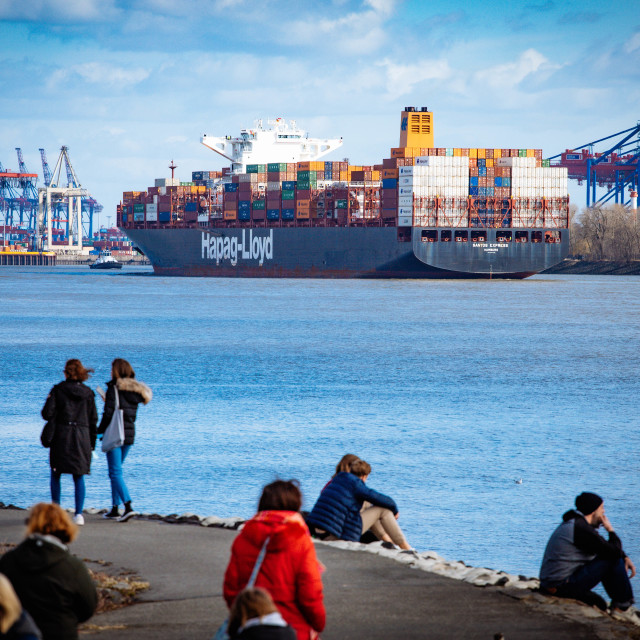 """""""Hapag-Lloyd Containerschiff Santos Express"""" stock image"""