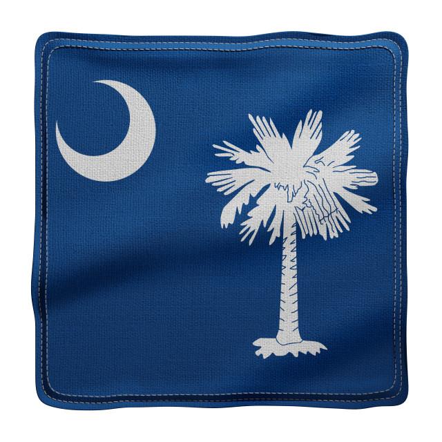 """South Carolina State flag"" stock image"