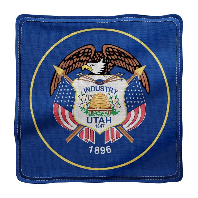 """Utah State flag"" stock image"
