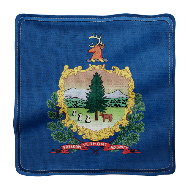 """""""Vermont State flag"""" stock image"""
