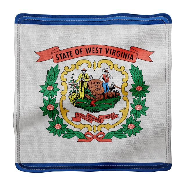 """""""West Virginia State flag"""" stock image"""