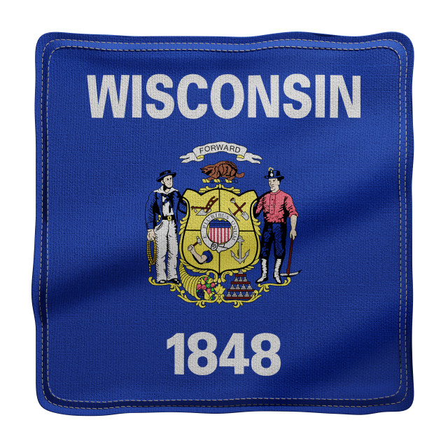 """""""Wisconsin State flag"""" stock image"""