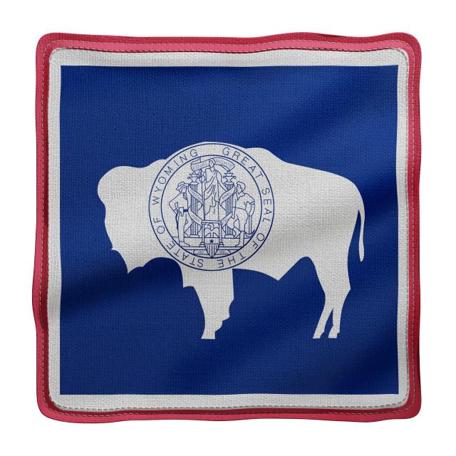 """Wyoming State flag"" stock image"