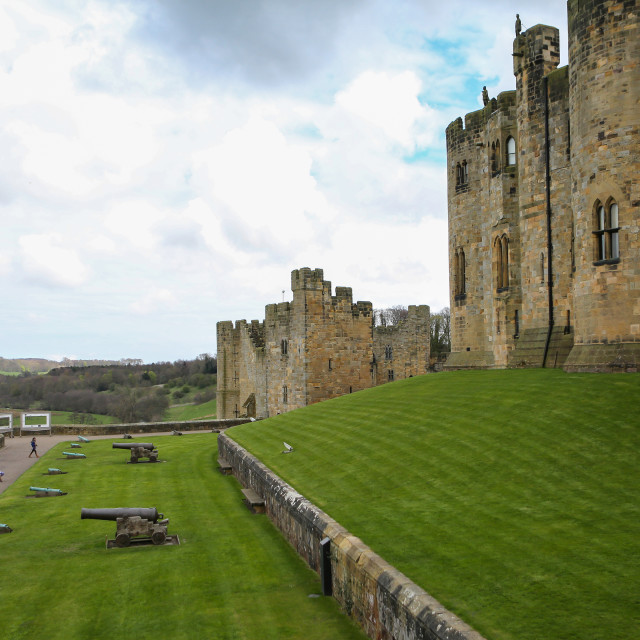 """Alnwick Castle"" stock image"