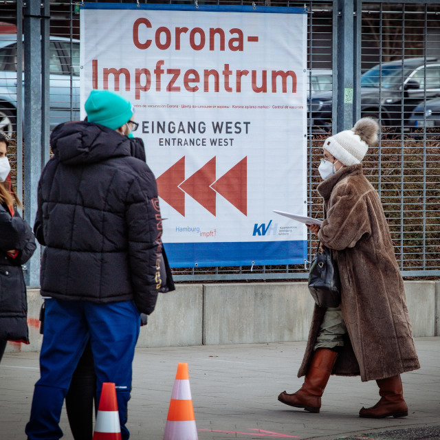 """Corona Impfzentrum - Corona Vaccination Center"" stock image"