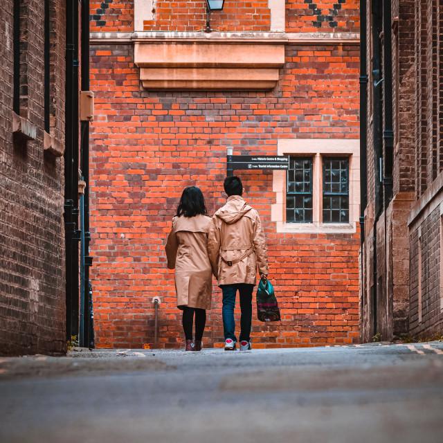 """""""Ground Level from Garret Hostel Lane, Cambridge UK."""" stock image"""