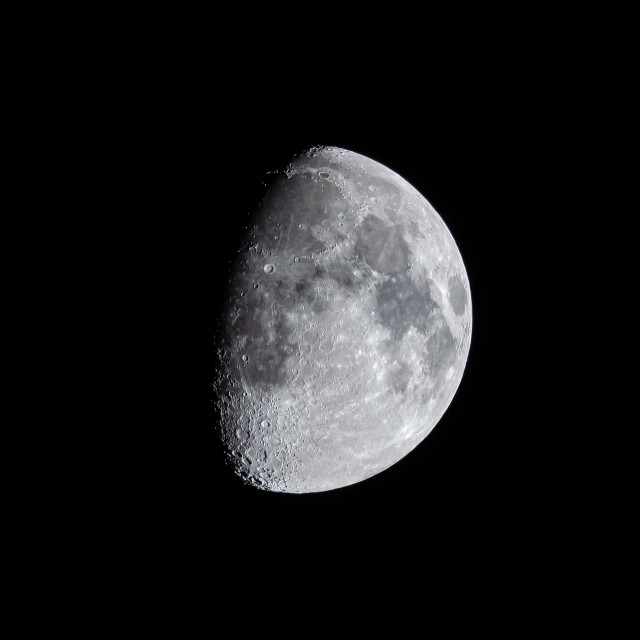 """""""Waxing Gibbous Moon 72% visible."""" stock image"""