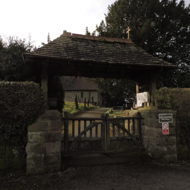 """Marston Montgomery Village, Derbyshire, March 2021"" stock image"