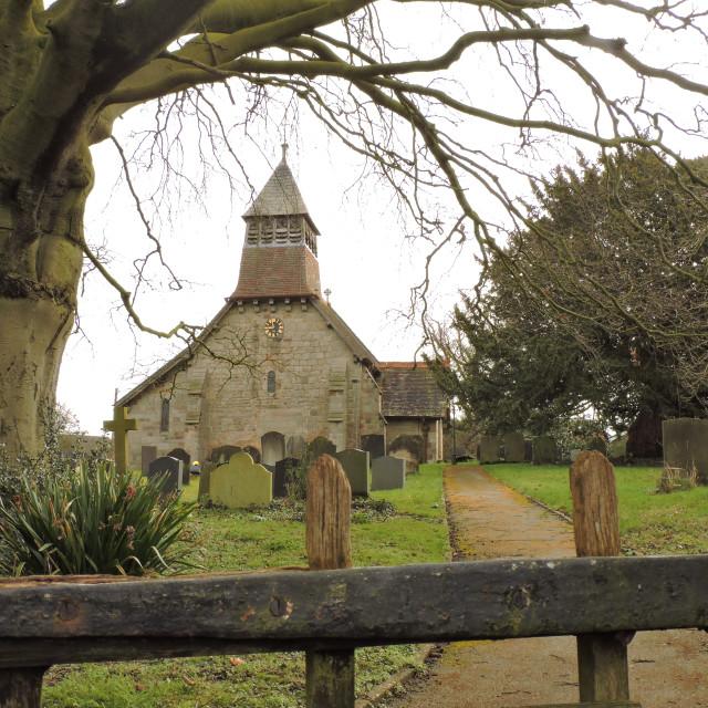 """Marston Montgomery Church, Derbyshire, March 2021"" stock image"