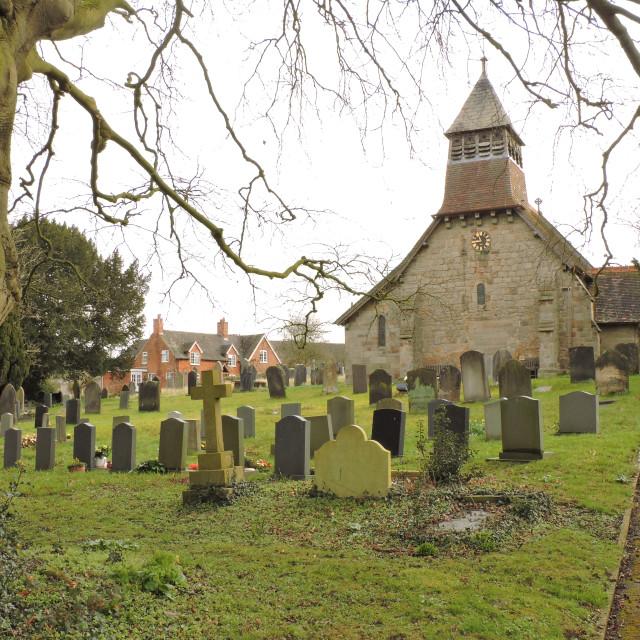"""Marston Montgomery, St Giles Church, Derbyshire, March 2021"" stock image"