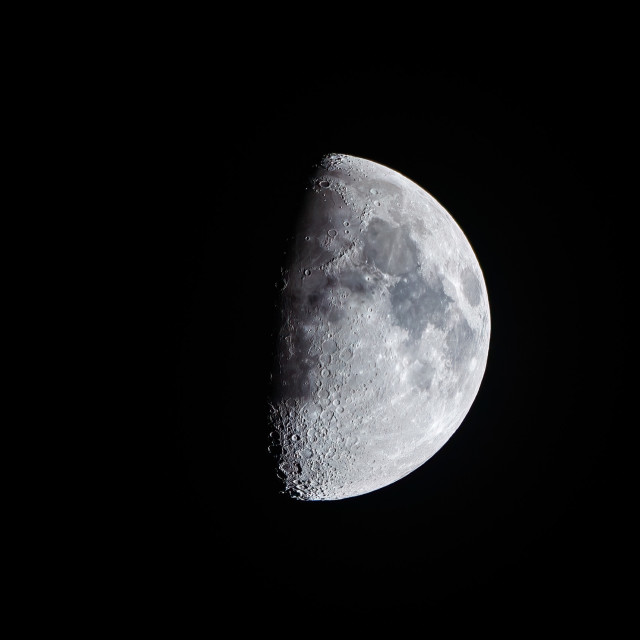 """""""Waxing Gibbous Moon, 62% visible."""" stock image"""