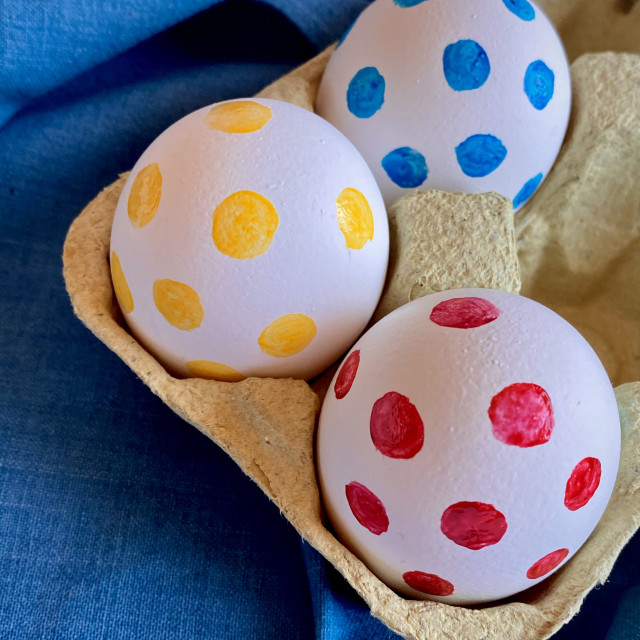 """""""Easter eggs a pois"""" stock image"""