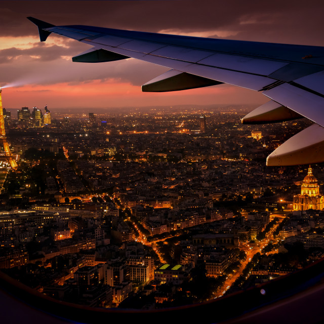 """Paris view from above"" stock image"