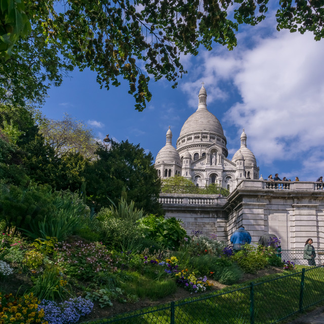 """Sacré-Cœur church in Montmartre Paris France"" stock image"