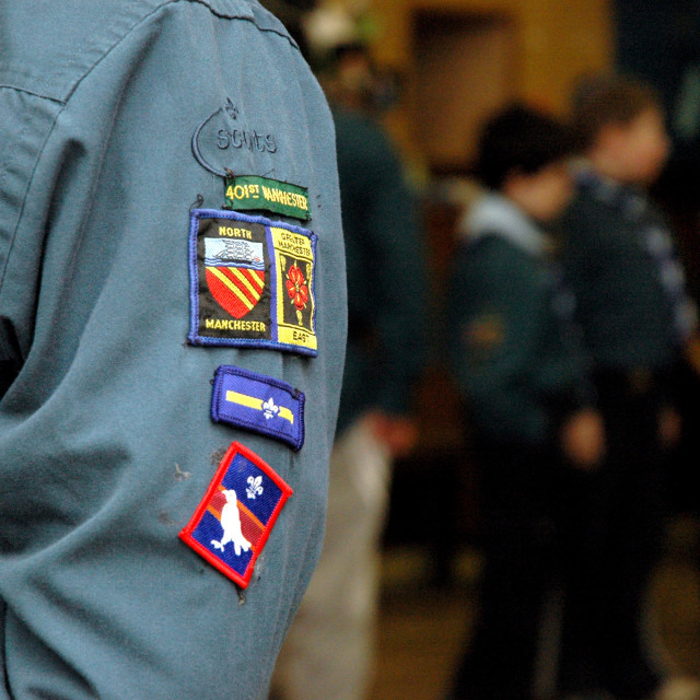 """""""Manchester scout arm badges"""" stock image"""