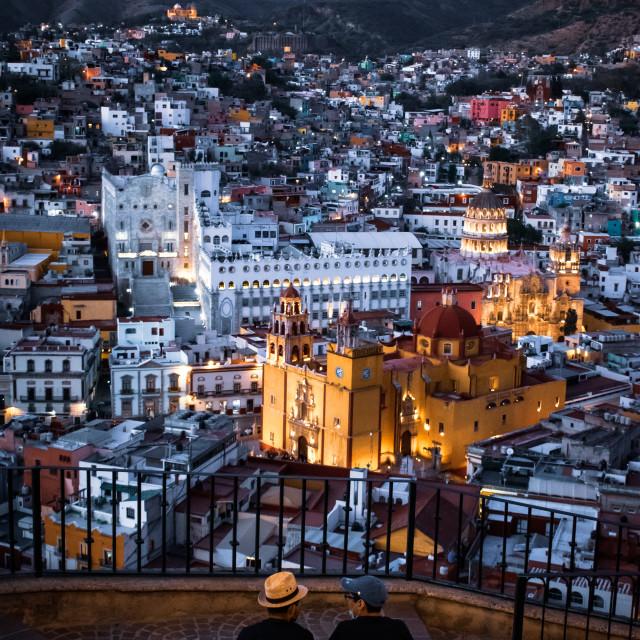 """Evening Views of Guanajuato City, Mexico"" stock image"