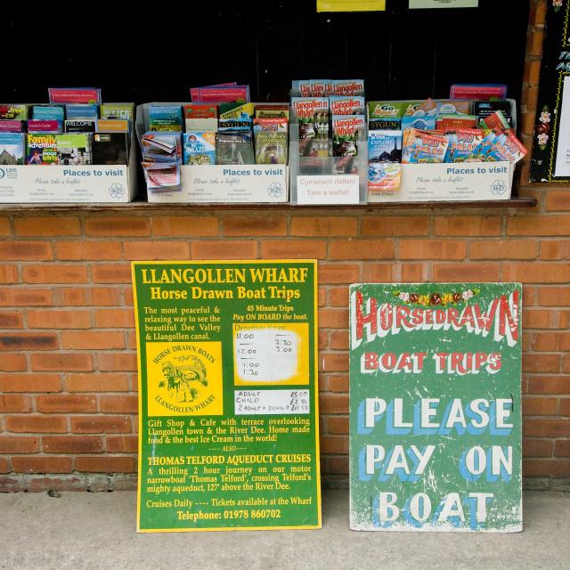 """Llangollen Canal 8"" stock image"