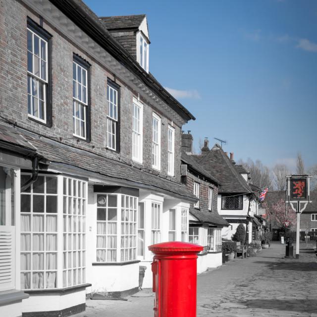 """""""Biddenden Village"""" stock image"""