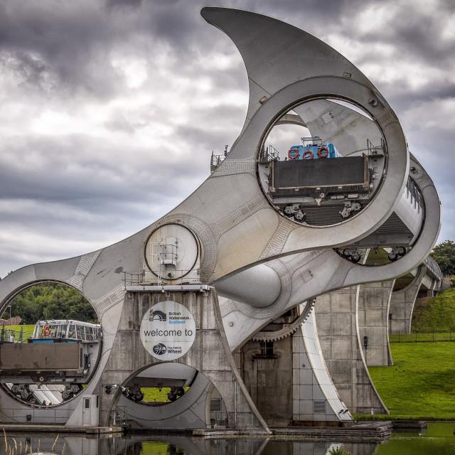 """Falkirk Wheel"" stock image"