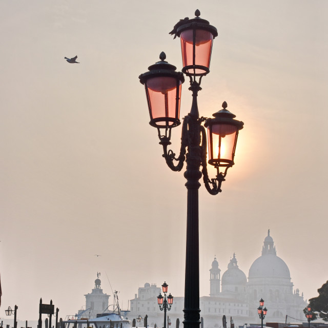"""""""Piazza San Marco on a foggy day"""" stock image"""