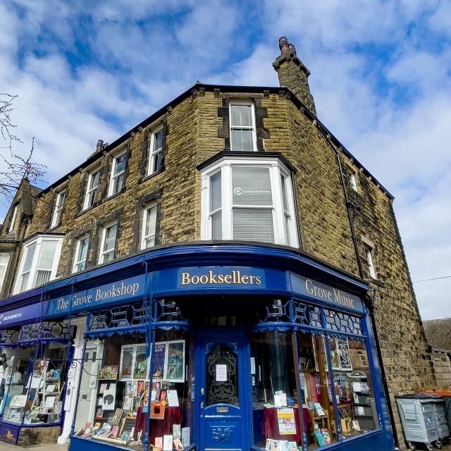 """The Grove Bookshop, Ilkley, Yorkshire, England."" stock image"