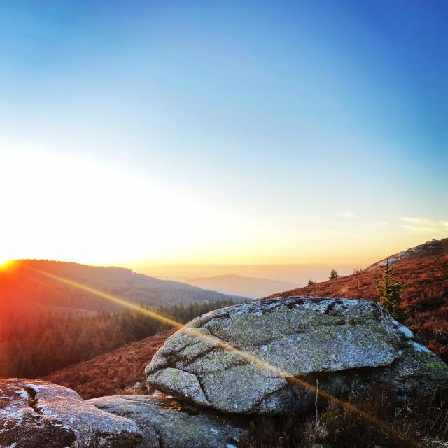 """""""Tibradden Sunset"""" stock image"""