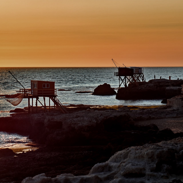 """""""Sunset in Charente-Maritime"""" stock image"""