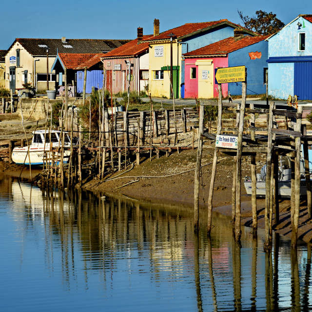 """fishing cabins"" stock image"
