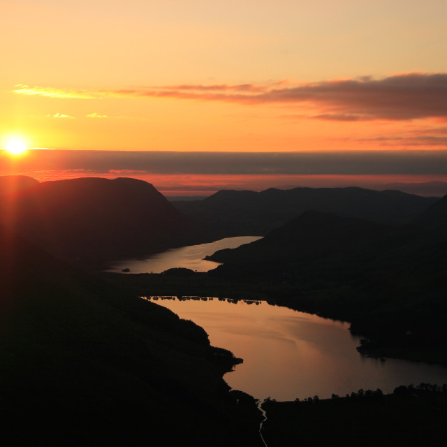 """""""Buttermere Sunset"""" stock image"""