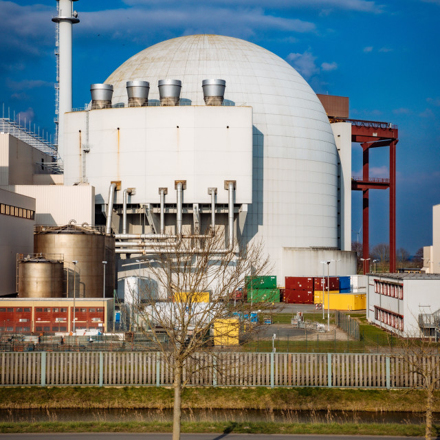 """AKW Brokdorf - Nuclear Power Plant"" stock image"