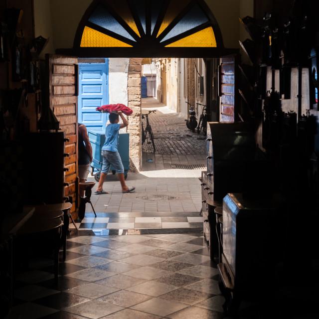 """Shop in Essaouira"" stock image"