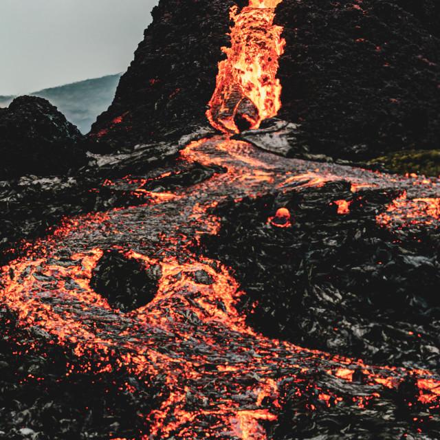 """Fagradalsfjall volcano"" stock image"