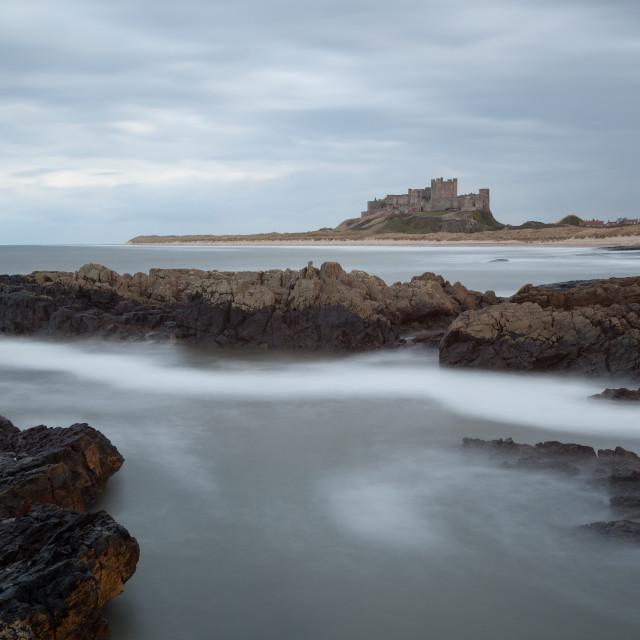 """""""Bamburgh Castle"""" stock image"""