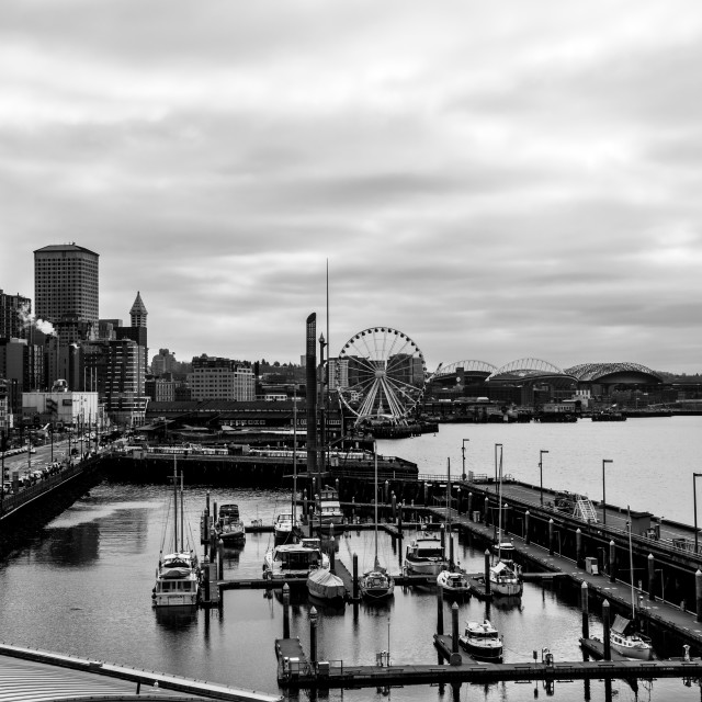 """""""Seattle Black and White 3"""" stock image"""